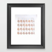Cubos Metal Framed Art Print