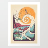 sun Art Prints featuring Surf Before Christmas by Victor Vercesi