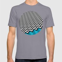 ZIGZAG Mens Fitted Tee Slate SMALL