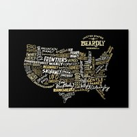 UNITE STATES OF BEARDLY … Canvas Print