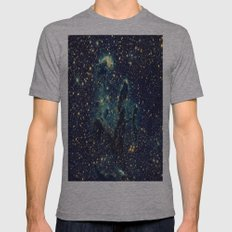 GalaxY Mens Fitted Tee Athletic Grey SMALL