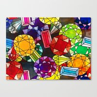 Gemstones Canvas Print