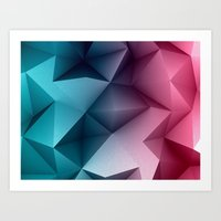Polymetric Ocean Floor Art Print