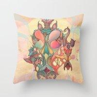 The Fountain Of Original… Throw Pillow