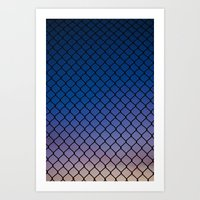 Scaled Fence Art Print