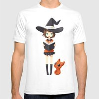 Little Witch 2 Mens Fitted Tee White SMALL