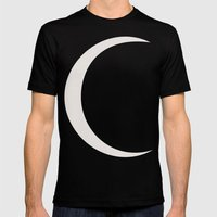 Crescent Moon Mens Fitted Tee Black SMALL