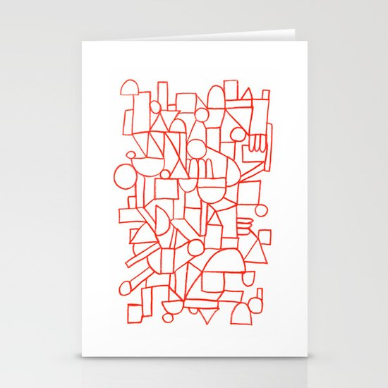 Rad lines Stationery Card