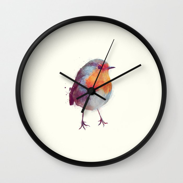 Winter Robin Wall Clock by Amy Hamilton