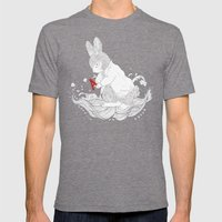 LE CHAPARDEUR Mens Fitted Tee Tri-Grey SMALL