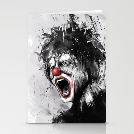 the clown Stationery Card