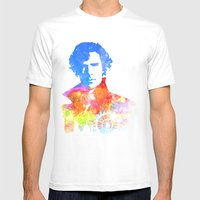 Sherlock Mens Fitted Tee White SMALL