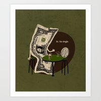 Pick Up Line Art Print