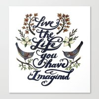 Live the life you have imagined - Thoreau Canvas Print