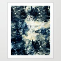 Drowning In Waves Textur… Art Print