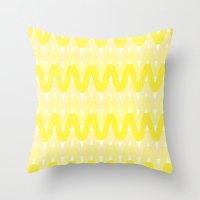 Summer Pattern 6 (Lemonade) Throw Pillow