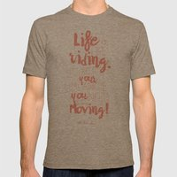 Einstein Quote on life motivation, balance, moving on, going on, inspiration Mens Fitted Tee Tri-Coffee SMALL