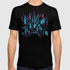 Tunnel to the Stars SMALL Black Mens Fitted Tee