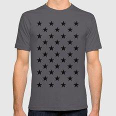 Stars (Black/White) Mens Fitted Tee Asphalt SMALL