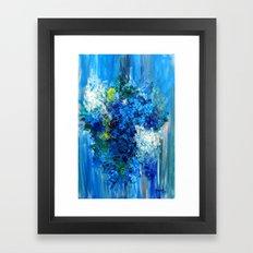 Blue Wild Flowers  Framed Art Print