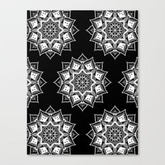 white Mandalas Canvas Print