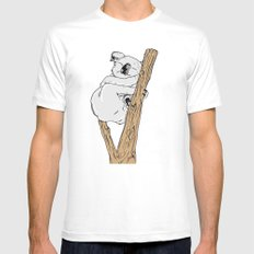 Koala Mens Fitted Tee White SMALL