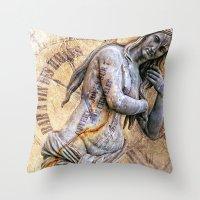 Femme Parisienne Throw Pillow