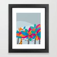 Orange And Trees Framed Art Print