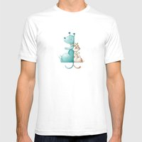 Friends Mens Fitted Tee White SMALL
