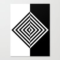 Black And White Concentr… Canvas Print