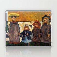 Four Girls in Åsgårdstrand by Edvard Munch Laptop & iPad Skin