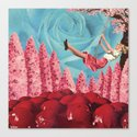 Cherry Blossoms on her swing Canvas Print