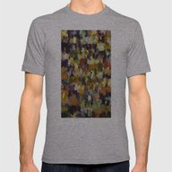 Abstract In Brown Mens Fitted Tee Athletic Grey SMALL