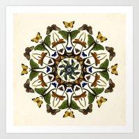 Kaleidoscope with Wings Art Print