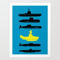 Know Your Submarines V2 Art Print