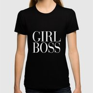 Girl Boss Black Vogue Ty… Womens Fitted Tee Black MEDIUM