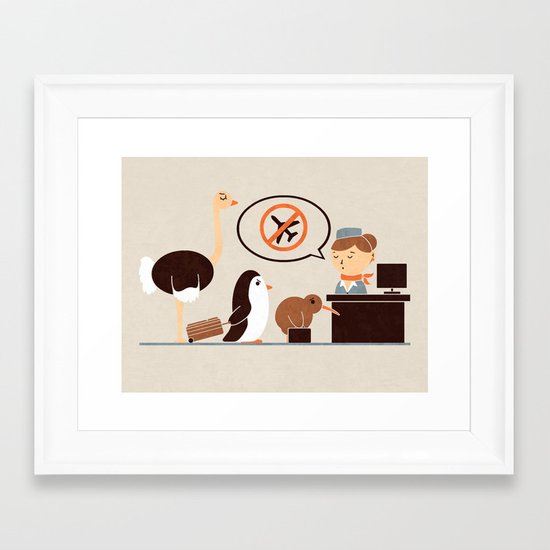 The No-Fly List Framed Art Print