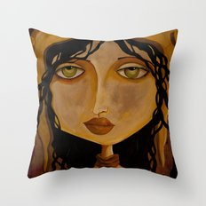 Pilot Girl Throw Pillow