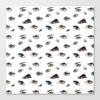 Dozens Of Eyes Canvas Print
