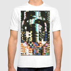 The Interference White Mens Fitted Tee SMALL