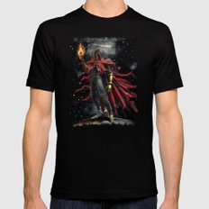 Epic Vincent Valentine Final Fantasy Painting Portrait Black Mens Fitted Tee SMALL