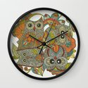 4 Owls Wall Clock