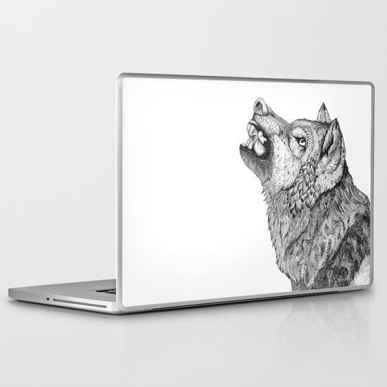 Wolf // Graphite Laptop & iPad Skin