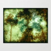 Forest Memories In Green Canvas Print