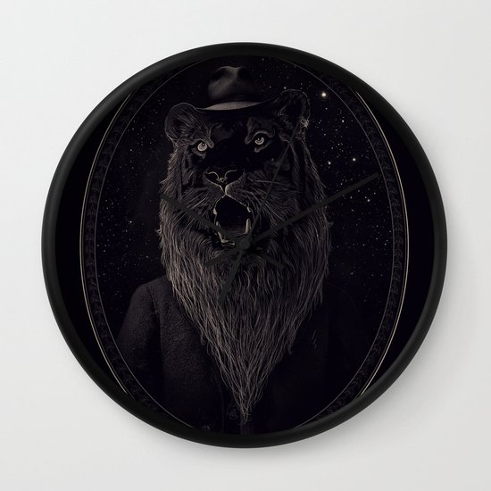 Call of the Wild Night Wall Clock