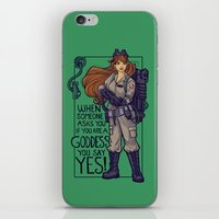 Ghostbuster Goddess iPhone & iPod Skin