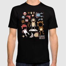 Dress up Mario Mens Fitted Tee Black SMALL