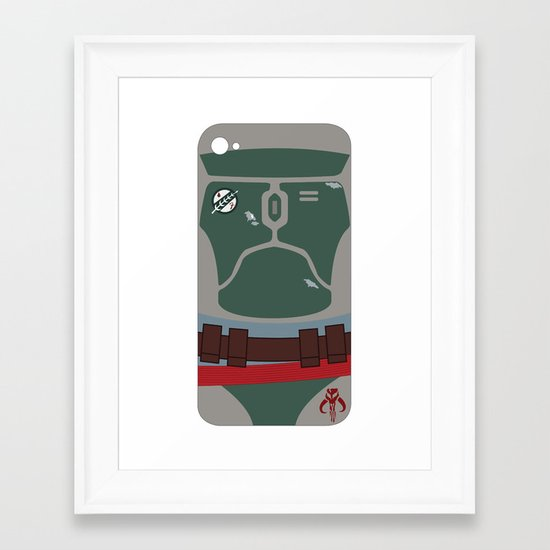 Boba Fett iPhone Case Framed Art Print