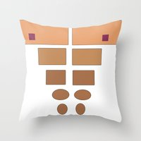 ABSstract! Throw Pillow