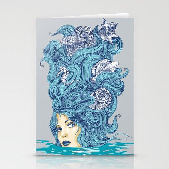 Ocean Queen Stationery Card